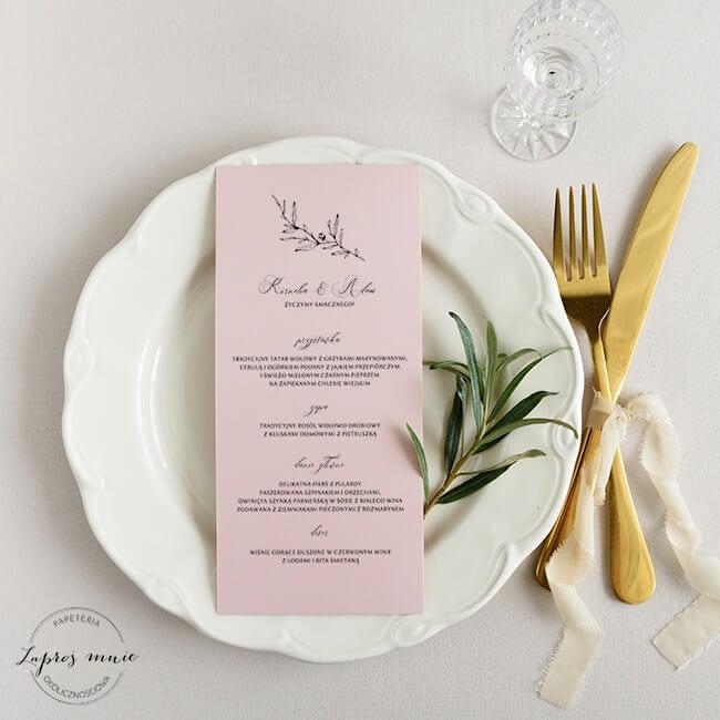 menu ślubne