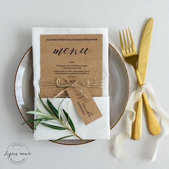 menu weselne eko